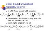 upper bound unweighted requests fe x x21