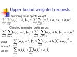 upper bound weighted requests26