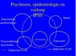 psychosen epidemiologie en verloop ipss