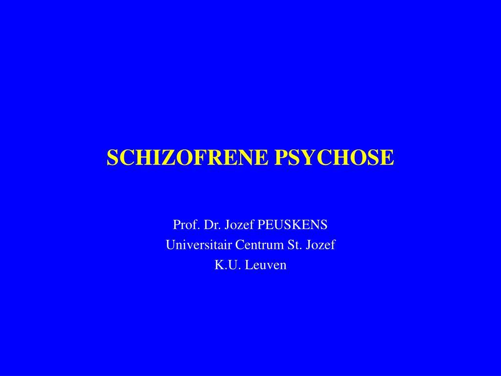 schizofrene psychose l.