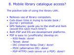 8 mobile library catalogue access