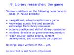 9 library researcher the game