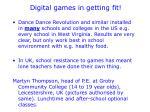 digital games in getting fit