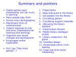 summary and pointers