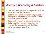 contract monitoring problems