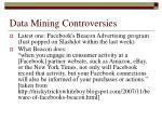 data mining controversies
