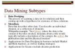 data mining subtypes