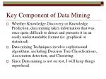key component of data mining