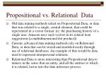 propositional vs relational data