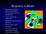 responses to blame