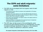 the cefr and adult migrants some limitations