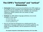 the cefr s horizontal and vertical dimensions12