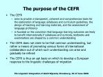 the purpose of the cefr