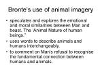 bronte s use of animal imagery
