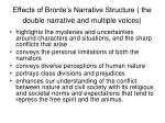 effects of bronte s narrative structure the double narrative and multiple voices
