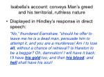 isabella s account conveys man s greed and his territorial ruthless nature
