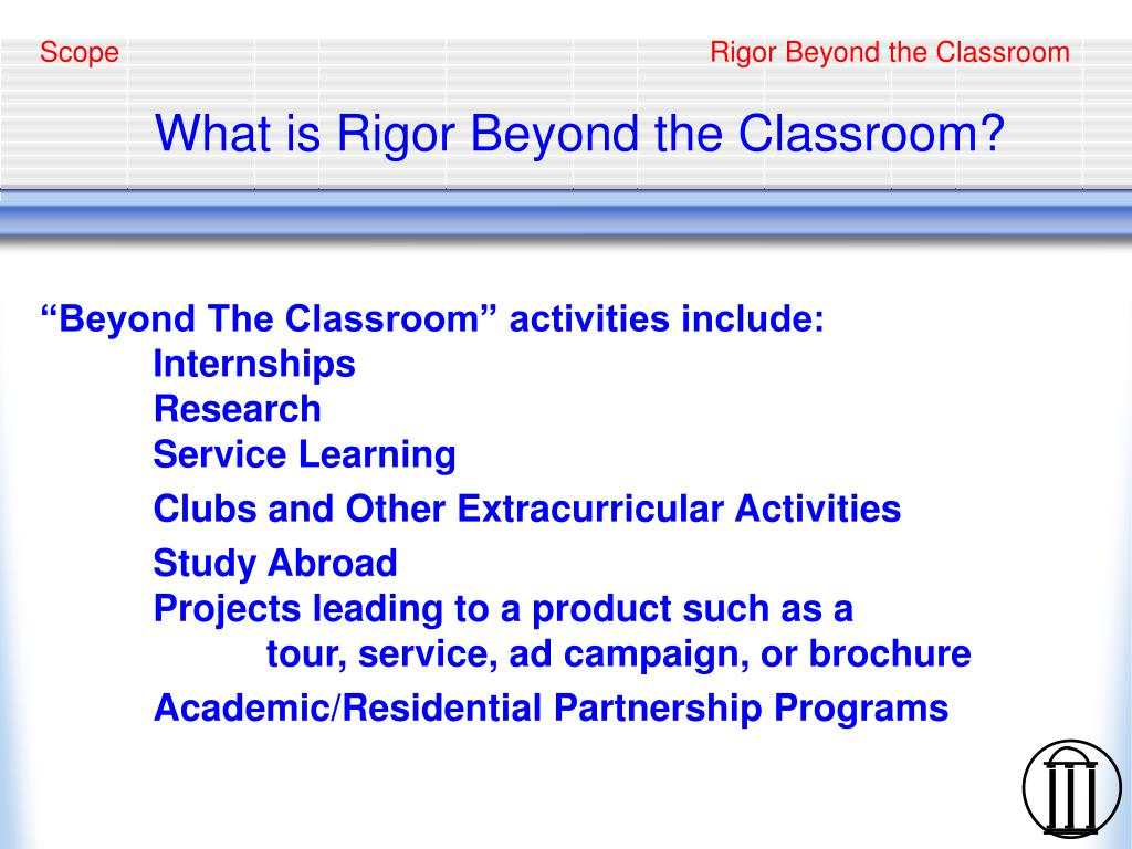 what is rigor beyond the classroom l.