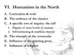 vi humanism in the north