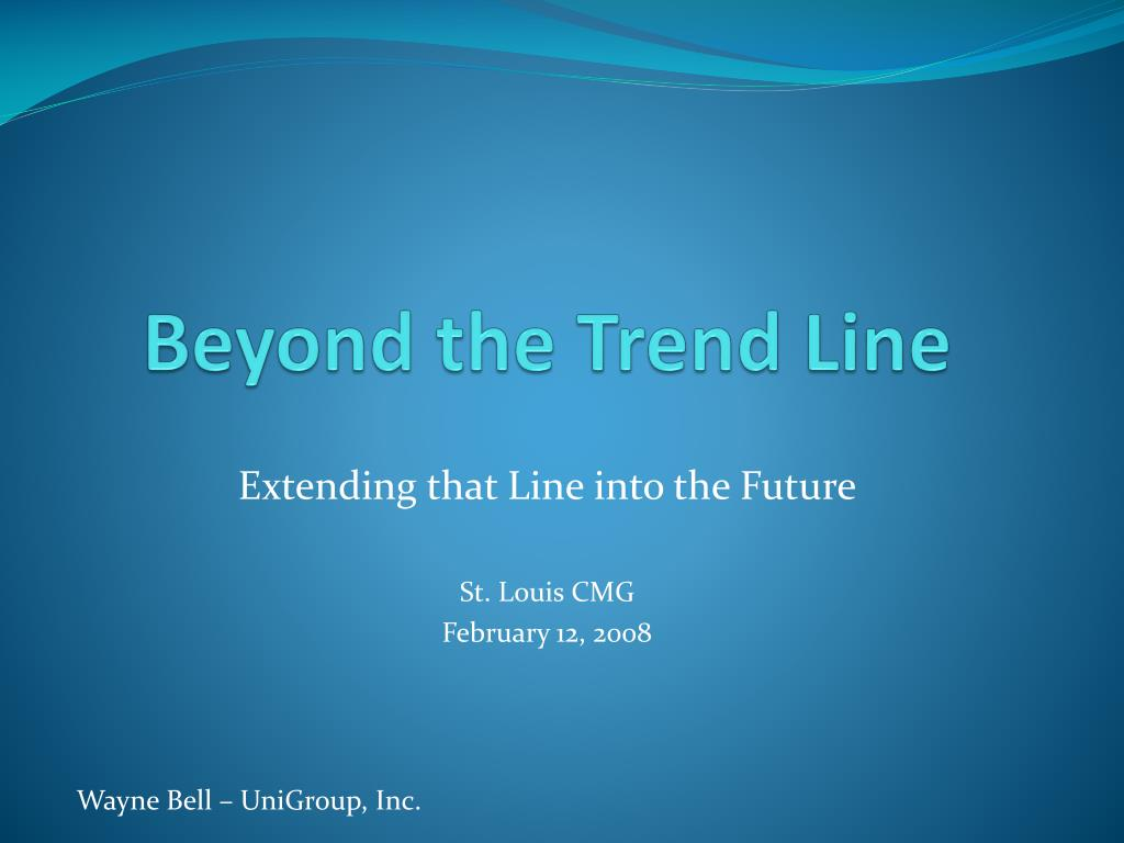 beyond the trend line l.