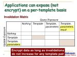 applications can expose not encrypt on a per template basis