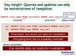 key insight queries and updates can only be instantiations of templates