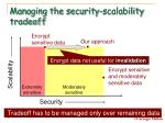 managing the security scalability tradeoff