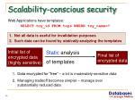 scalability conscious security
