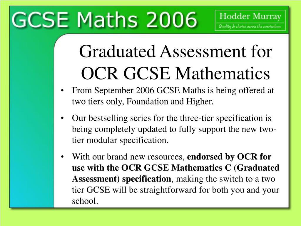 graduated assessment for ocr gcse mathematics l.