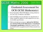 graduated assessment for ocr gcse mathematics