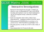 interactive investigations