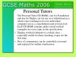 personal tutors