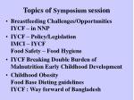 topics of symposium session