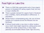 food fight on lake erie