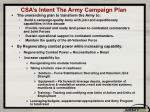 csa s intent the army campaign plan