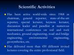 scientific activities