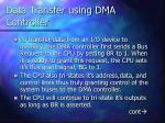 data transfer using dma controller