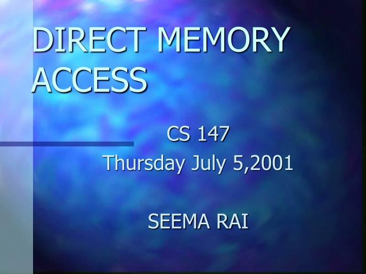 direct memory access n.