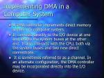 implementing dma in a computer system