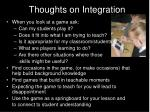 thoughts on integration40