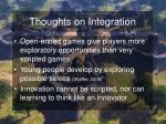 thoughts on integration44