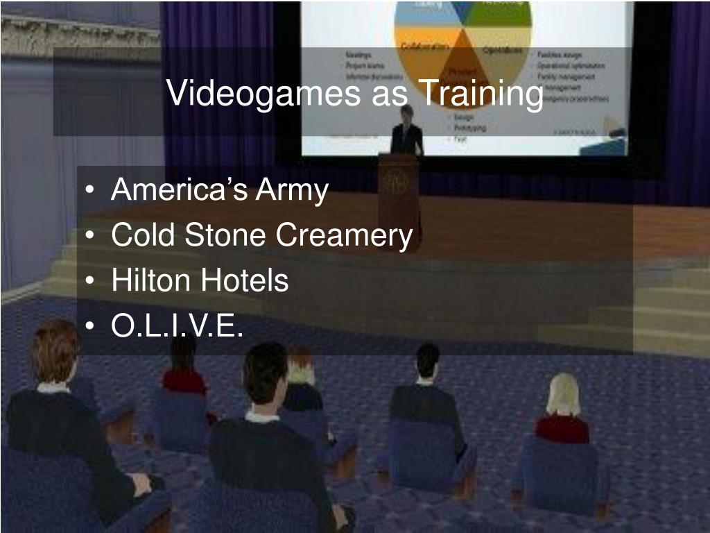 Videogames as Training