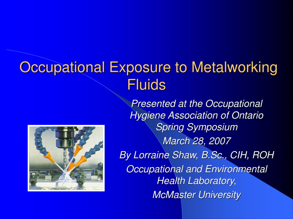 occupational exposure to metalworking fluids l.