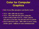 color for computer graphics