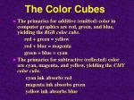 the color cubes