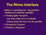 the rhino interface
