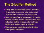 the z buffer method