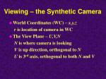 viewing the synthetic camera