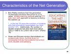 characteristics of the net generation28