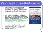 characteristics of the net generation29