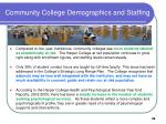 community college demographics and staffing38